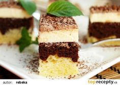 Úžasný tvarohový moučník ke kávě recept - TopRecepty.cz Czech Recipes, Russian Recipes, Ethnic Recipes, Polish Recipes, Mini Cakes, Nutella, Tiramisu, Sweet Tooth, Food And Drink