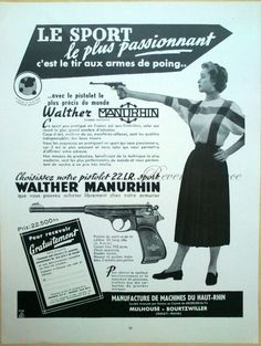Walther Manurhin .22 vintage ad. I wish I could find one of these today