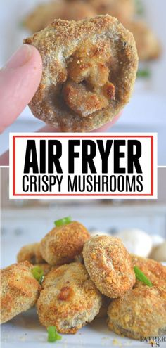 These Crispy Air Fryer Mushrooms are the perfect healthy game day appetizer recipe. Tender mushrooms are coated with Parmesan Panko Breadcrumbs and cooked to perfection in your Air Fryer. I love to dip mine and ranch and enjoy the big game! Fried Mushroom Recipes, Mushroom Appetizers, Crispy Mushrooms Recipe, Mushrooms Recipes, Fried Mushrooms, Air Fryer Recipes Vegetarian, Air Fryer Dinner Recipes, Air Fryer Recipes Easy, Fungi