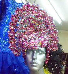 Pink Crystal Headdress Headgear Diva Showgirl Cabaret Samba Latin Drag Queen | eBay