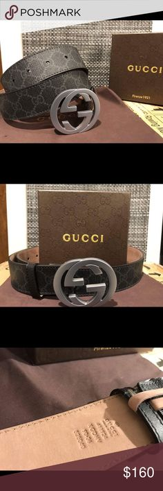 Authentic Mens Black Canvas Gucci Belt 100% percent authentic mens Gucci belt!  Made in Italy. Comes with box dust bag and tags. Bundles save you money.  Ships in 1-2 business days. Gucci Accessories Belts