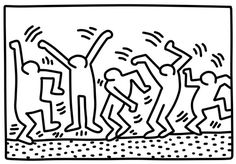 Dancing Figures by Keith Haring coloring page from Keith Haring category. Select from 21529 printable crafts of cartoons, nature, animals, Bible and many more.