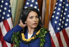 """Hawaii Rep. Tulsi Gabbard announced on """"Meet the Press"""" Sunday morning that she was stepping down as vice chair of the Democratic National Committee and endorsing Vermont Sen. Bernard Sanders for president."""