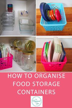 How to Organise Food Storage Containers - do you have drawers of cupboards overflowing with food containers? Mismatched lids or ones that no longer fit properly? Tatty plastic take-away containers that you never use? This post shows exactly how I organise