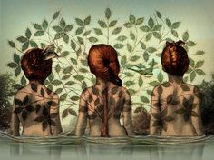 'Sisters' von Catrin Welz-Stein bei artflakes.com als Poster oder Kunstdruck