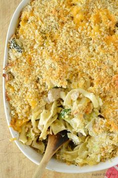 This Easy Chicken Broccoli Bake is a comfort food casserole at it's best. It's a great way to use up leftover chicken and calls for fresh broccoli.