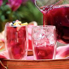 Blueberry-Lemon Iced Tea:  The antioxidant-packed fruit give some additional sweetness to your tea. Blueberries and lemon provide plenty of tart flavors that is mellowed out by a bit of sugar.  Ingredients: Frozen blueberries, lemon juice, water, tea bags, sugar  Calories: 145 (approximate)