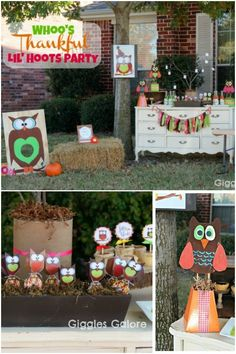 Owl Themed Thanksgiving Party Pinned by www.myowlbarn.com