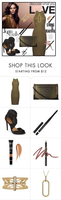 """""""Joan Smalls"""" by lavendergal ❤ liked on Polyvore featuring Sebastian Professional, DRKSHDW, McQ by Alexander McQueen, Schutz, INIKA and Cole Haan"""