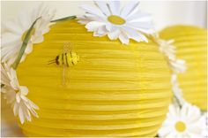 """Bee""--Already picked up some of these lanterns w/o knowing what I would do with them, here's an idea!!!"
