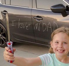 Welcome to St. Zion's Blog: Oops! Little girl Father's Day message to her dad ...