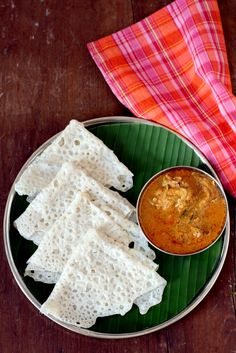 Neer Dosa Recipe - Mangalore #breakfast dish made with rice & coconut. Rice #crepes can be served with any curry be it veg, egg or meat or #chutney. www.sailusfood.com