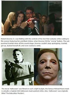 12 Extremely Interesting Movie facts.I knew that about Halloween, but I've always wanted to see the unpainted version if the mask!