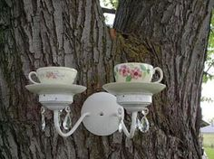 For my future Alice in Wonderland garden. Erin, I thought this would be fab for the mad hatter tea party! <3