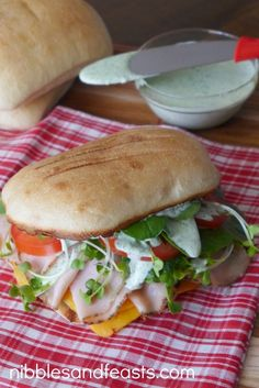 Cajun Style Turkey Sandwich with Cilantro Lime Dressing - Nibbles and Feasts