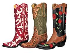 Custom cowboy boots from Back At The Ranch in Santa Fe, NM