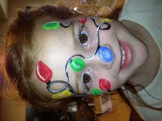 Christmas Lights -   Face Painting by Jennifer Van Dyke