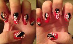 2ne1 Minzy's I Love You nail art - Ellisy