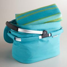 Double-Decker Tote Bag with Blanket