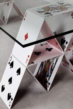 Maurício Arruda * House of cards table | Design Gallerist | Rare & Unique Products #design #cards #table