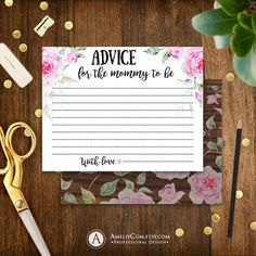 Printable Advice for the Mommy to be Baby Shower by AmeliyCom https://www.etsy.com/listing/274132458/printable-advice-for-the-mommy-to-be