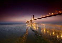 Vasco De Gama bridge Lisbon Portugal  35PHOTO - Paulo Flop - Walking Away .