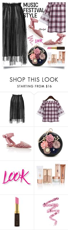 """""""Rosegal    33"""" by mell-2405 ❤ liked on Polyvore featuring Aquazzura, WithChic, NYX, Kevyn Aucoin, Cynthia Rowley, Summer, dress, promotion and rosegal"""