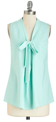 pretty tie front mint tank http://rstyle.me/n/v2yw5r9te