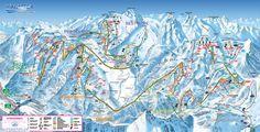 Sauze d'Oulx Sestriere Piste Map (High resolution / .JPEG) #skiing #italy #vialattea