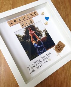 Grandad gift- personalised scrabble photo frame