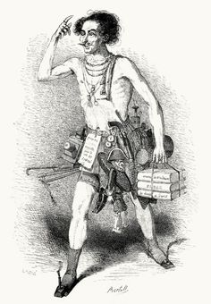 A salesman in the year 3000 Bertall, from Le monde tel qu'il sera (The world as it will be), by Émile Souvestre, illustrated by Bertall, O. Penguilly L'Haridon and Prosper Saint Germain, Paris, 1806.