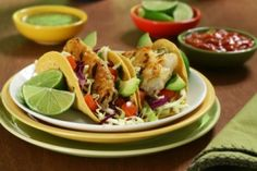 Healthy Alternative Tacos  The Chili Chipolte sauce sounds amazing!