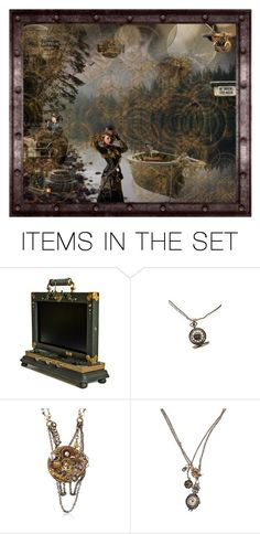 """""""Steampunk"""" by julissag ❤ liked on Polyvore featuring art"""