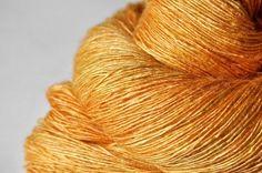 Smashed pumpkin - Tussah Silk Yarn Lace weight ~ DyeForYarn