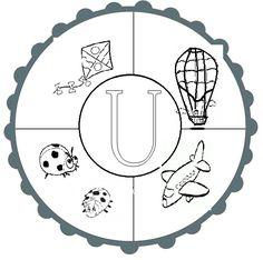 u sesi mandala Turkish Language, Alphabet Activities, Ocean Art, Kindergarten, Mandala, Projects To Try, Arts And Crafts, Writing, Education