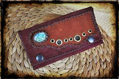Your place to buy and sell all things handmade Leather Tobacco Pouch, Suede Leather, Wallet Pattern, Pouch Bag, Alternative Fashion, Accessories Shop, Bronze, Leather Craft, Labradorite