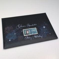 Snail mail galaxy envelope