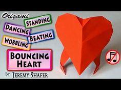 Origami Bouncing Heart (no music) - YouTube