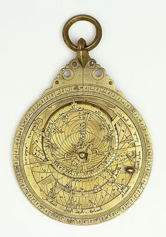 "Astrolabe, dated A.H. 496 / A.D. 1102–1103. Islamic Culture, Iran. Brass. The Metropolitan Museum of Art, New York. Museo Galileo: Institute and Museum of the History of Science, Florence (1105) | This work is featured in the ""Courts & Cosmos: The Great Age of the Seljuqs"" exhibition, on view through July 24,2016. #CourtandCosmos #CosmicWonders"