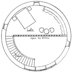 round straw bale house