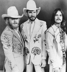 Tres Hombres. Looking sharp.  AKA later on as ZZ Top  Can ya guess who this is?