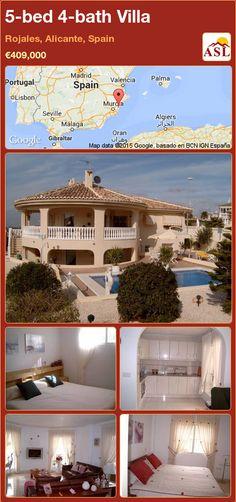 5-bed 4-bath Villa in Rojales, Alicante, Spain ►€409,000 #PropertyForSaleInSpain