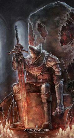 m Lich Abyss Watchers Heavy Armor Greatsword Dark Souls 3 sleeping lg Dark Souls 3, Arte Dark Souls, Demon's Souls, Ornstein Dark Souls, Bloodborne Art, Illustration Mode, Game Concept Art, Soul Art, 3 Arts