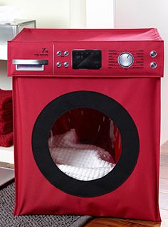 Panier linge on pinterest hampers laundry baskets and laundry bags for Decoration salle de bain rouge