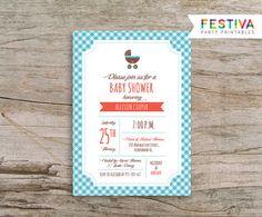 Invitación de la ducha ducha invitación / Aque por FestivaParty