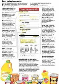 Etiquetas #nutrition #nutrición #health