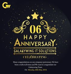 #GalaxywingAnniversary #Galaxywingitsolutions On the occasion of Galaxywing IT Solutions anniversary. We pause in grateful recognition Of our contributions to our success.