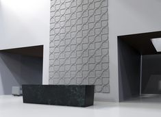 Introducing Ecoustic Crescent acoustic wall tiles, designed by design legends Adam Goodrum + Patryk Koca. These versatile three dimensional tiles create the most beautiful defined formations whilst providing superior acoustic absorption. Acoustic Wall, Acoustic Panels, Tile Design, Three Dimensional, Wall Tiles, Legends, Ceiling, Create, Beautiful