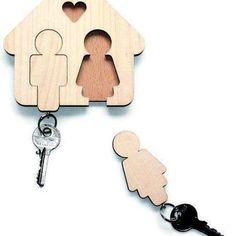 Llaveros, buena idea para colgar las llaves en casa