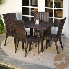 Christopher Knight Home Brooke 5-piece Outdoor Dining Set